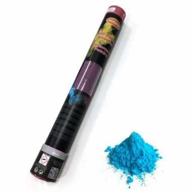4x kleurpoeder shooters blauw 40 cm kopen