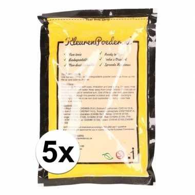 5x holi kleurpoeder geel kopen