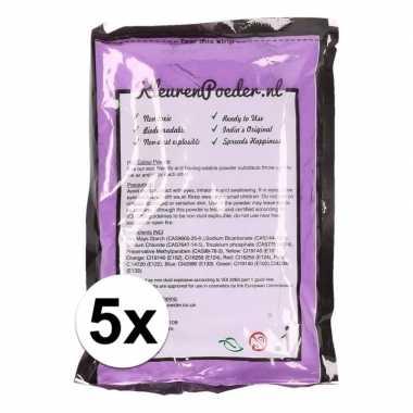 5x holi kleurpoeder paars kopen