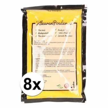 8x holi kleurpoeder geel kopen