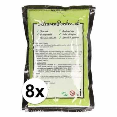 8x holi kleurpoeder groen kopen