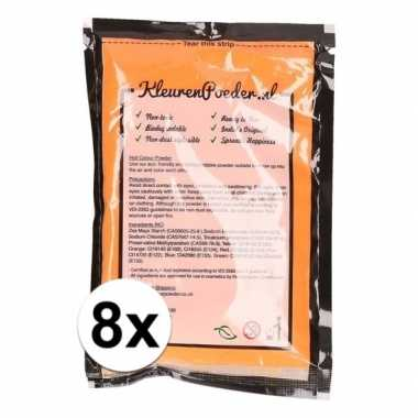 8x holi kleurpoeder oranje kopen