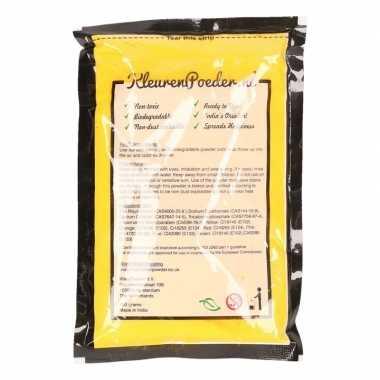 Gele kleurpoeders 100 gram kopen
