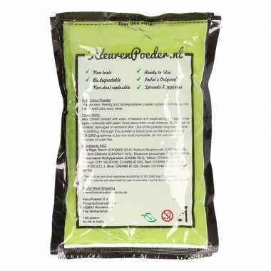Groene kleurpoeders 100 gram