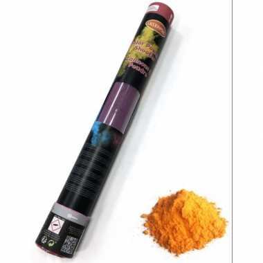 Kleurpoeder shooter oranje 40 cm kopen