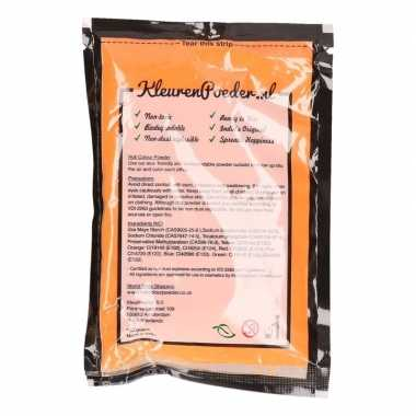 Oranje kleurpoeders 100 gram