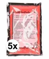 5x holi kleurpoeder rood