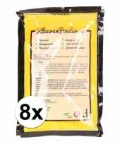8x holi kleurpoeder geel