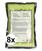 8x holi kleurpoeder groen